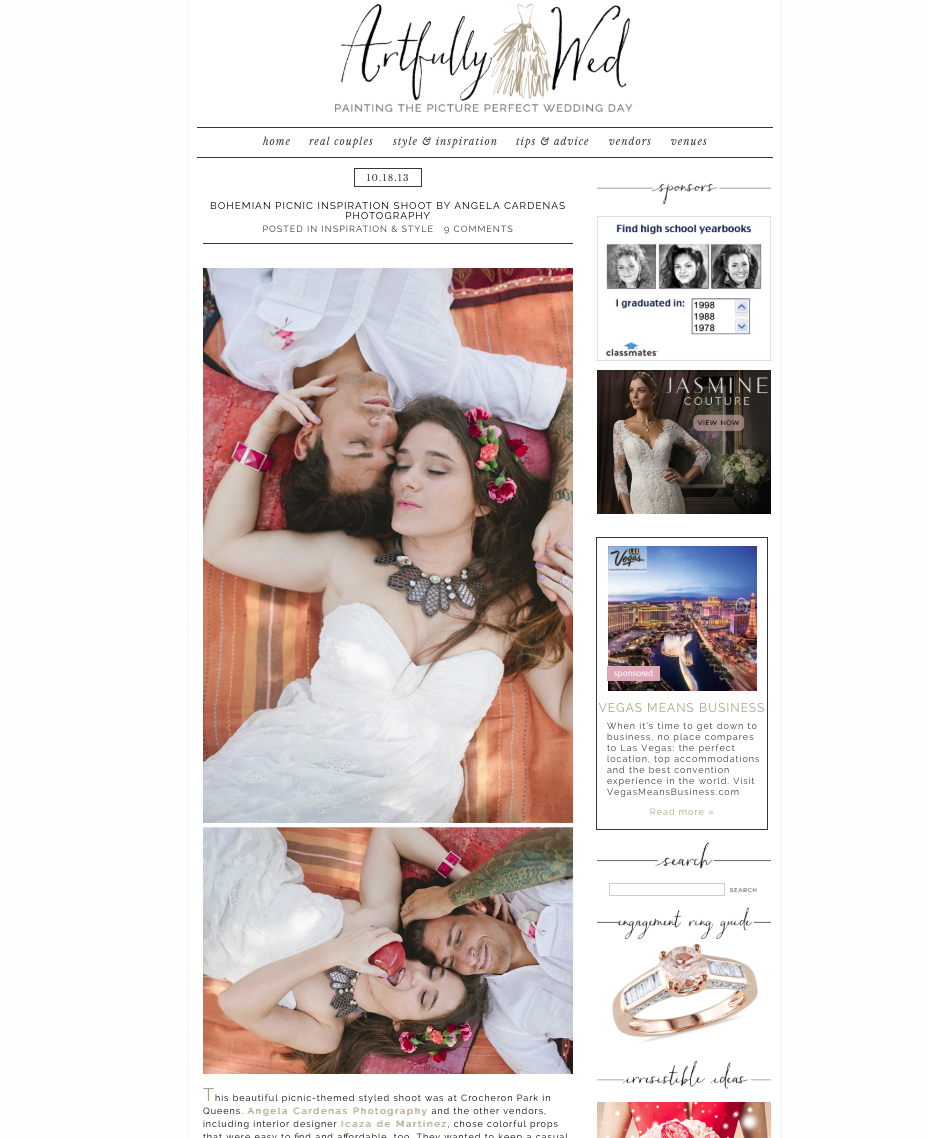 published in artfully wed
