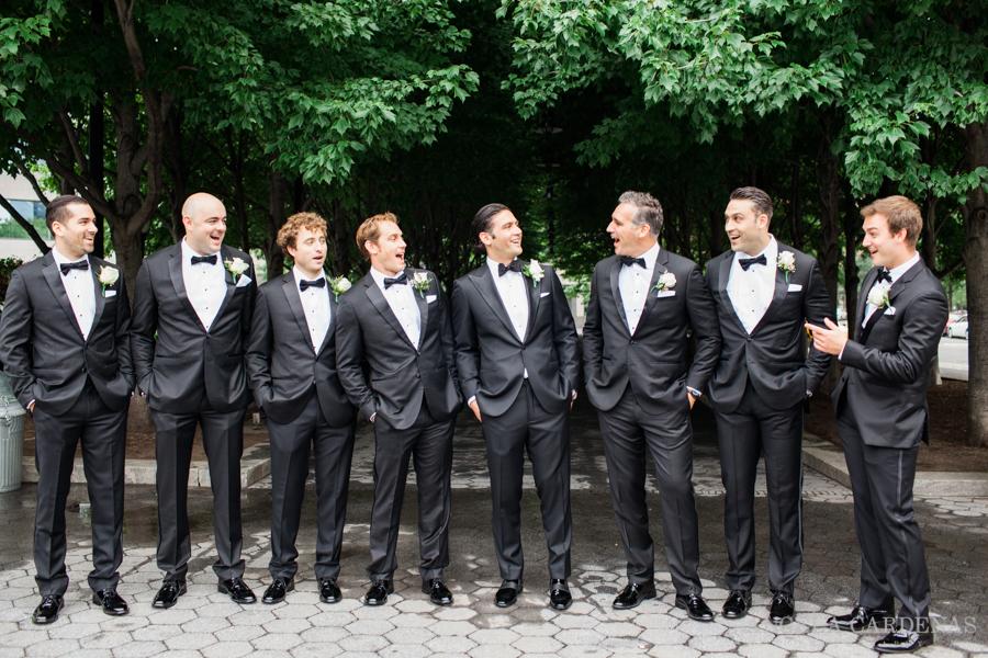 battery park wedding photos