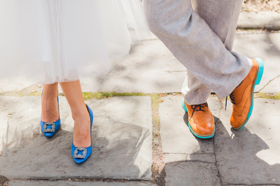 manolo blahnik shoes conservatory garden intimate elopement ceremony
