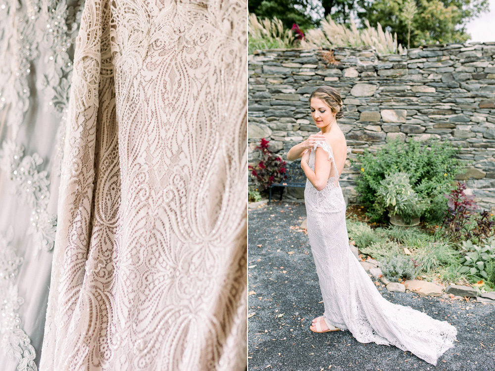 Vineyard wedding lace wedding gown