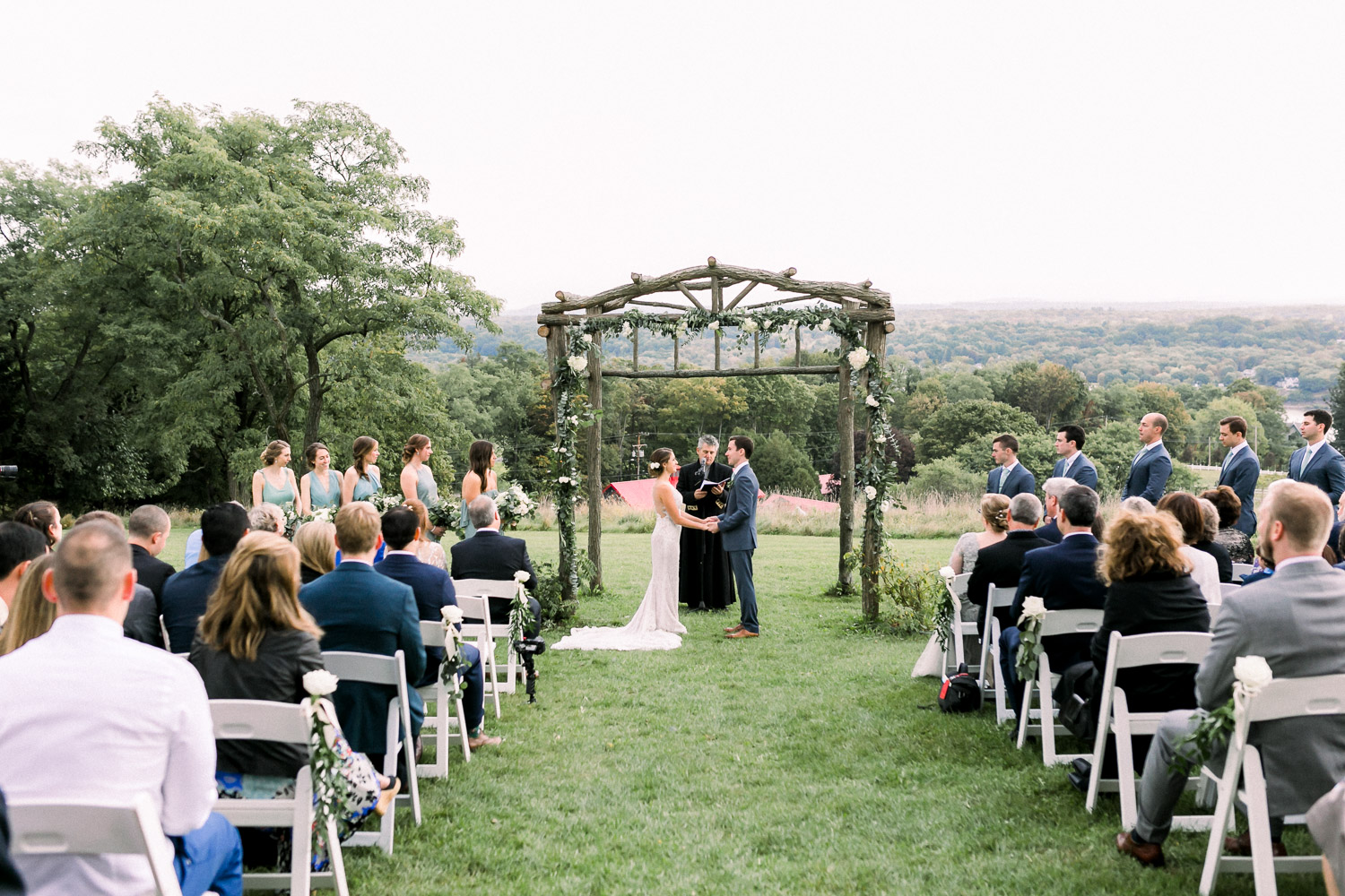 hudson valley outdoor wedding ceremony