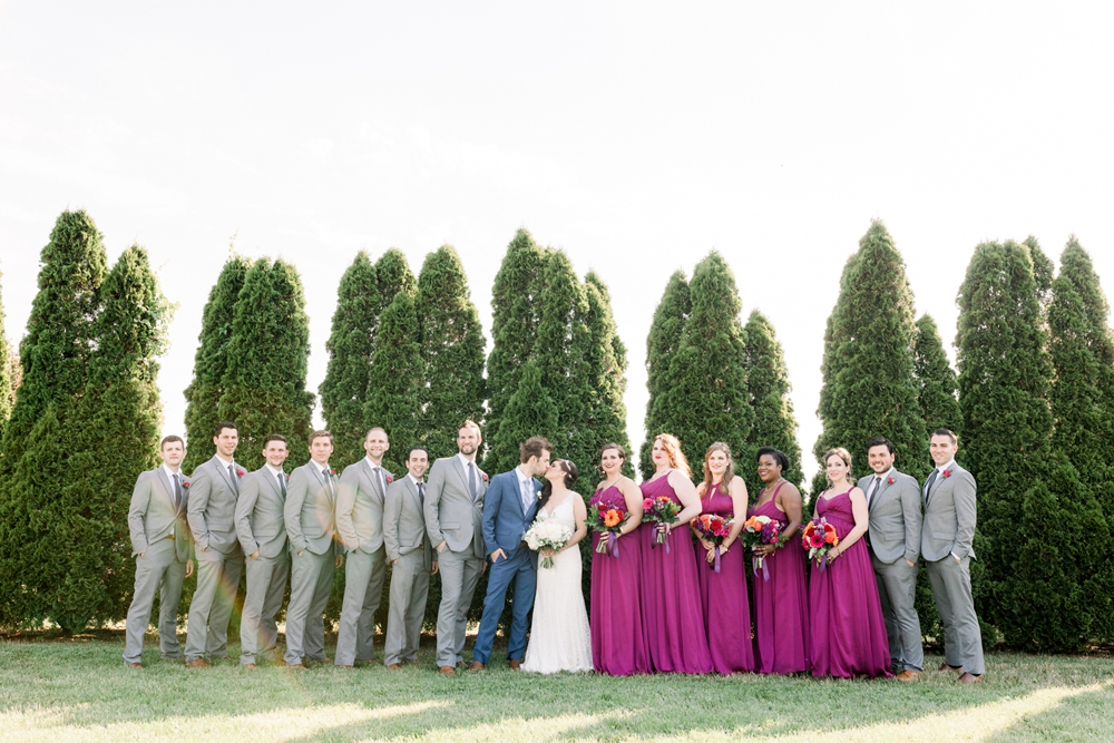 Bridal Party inspiration vibrant colors