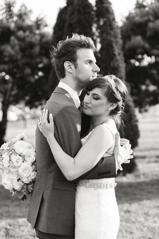 Newlyweds vineyard wedding